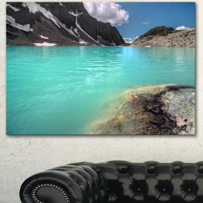 Designart Crystal Clear Mountain Lake Landscape Canvas Art Print - 3 Panels