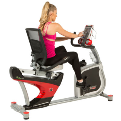 FITNESS REALITY X-Class 410 Recumbent Exercise Bike, Air Soft Seat, and Adjustable Lumbar Backrest