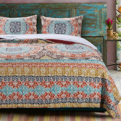 Barefoot Bungalow Olympia 3-pc. Bohemian Quilt Set