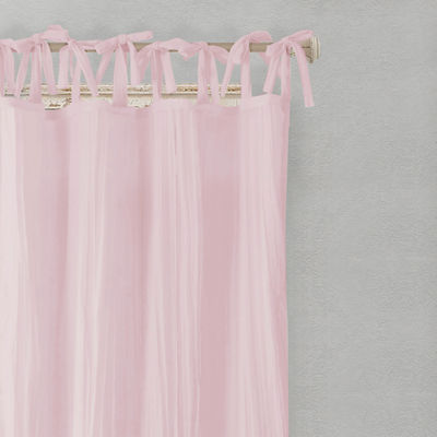 Elrene Jolie Crushed Semi-Sheer Curtain Tie-Top Curtain Panel