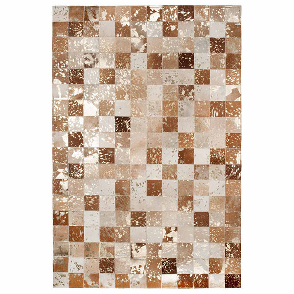 ST. CROIX TRADING Gold Splash Leather Hair-On HideMatador Rug