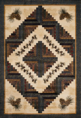 United Weavers Designer Genesis/Donna Sharp Collection Cabin Rising Rectangular Rug