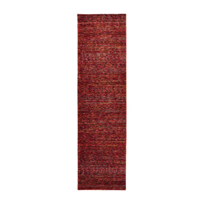 Covington Home Avante Bordeaux Rectangular Runner
