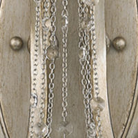 Sancerre 2-Light Wall Sconce in White Gold with