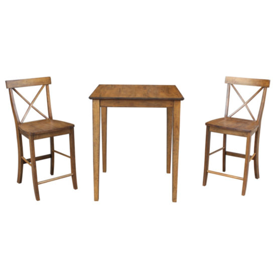 International Concepts Dining Table with X-Back Stools