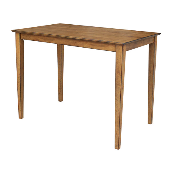 Solid Wood Top Table with Shaker Legs