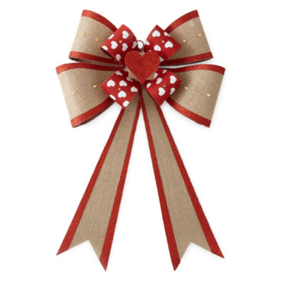 JCPenney Home Heart Burlap Bow
