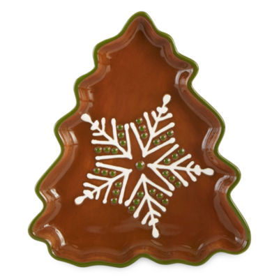 North Pole Trading Co. Gingerbread Salad Plate