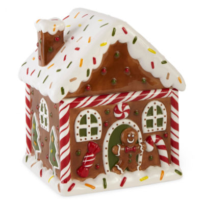 North Pole Trading Co. Gingerbread Cookie Jar