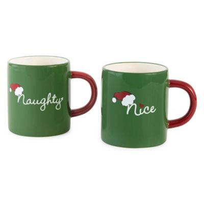 North Pole Trading Co. Naughty And Nice 2-pack Coffee Mug