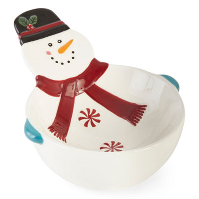 North Pole Trading Co. Holiday Snowman Serving Bowl