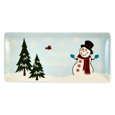 North Pole Trading Co. Holiday Snowman Serving Platter