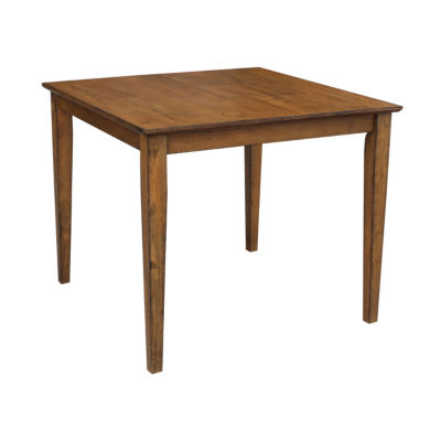"""Solid 30"""" High Wood Top Table With Shaker Legs"""
