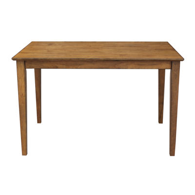 "Solid 30"" High Wood Top Table With Shaker Legs"