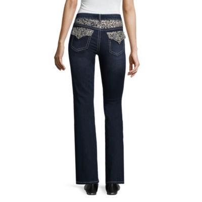 a.n.a Lace Flap Yoke Bootcut Jeans