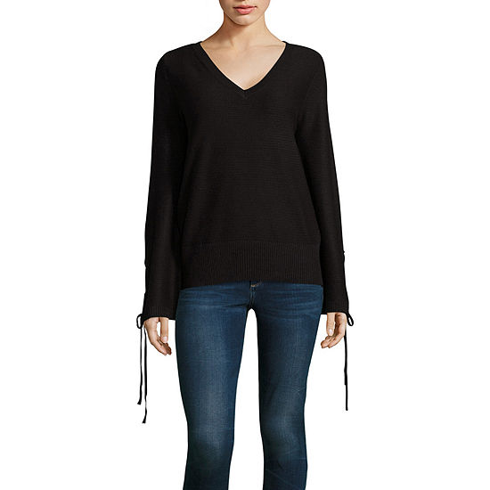 a5362c6ecc5 ana Long Sleeve V Neck Pullover Sweater JCPenney