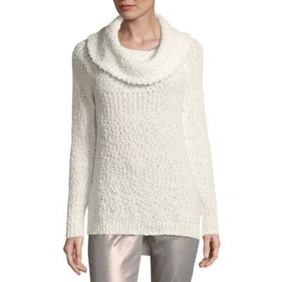 Liz Claiborne Long Sleeve Cowl Neck Pullover Sweater