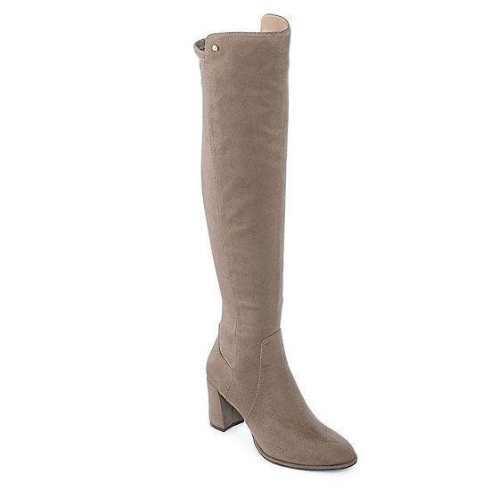 Liz Claiborne Womens Leyla Over the Knee Boots Block Heel