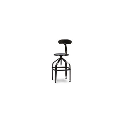 Baxton Studio Architect Industrial With Backrest Swivel Bar Stool