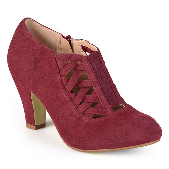 Journee Collection Womens Piper Booties Stacked Heel Wide Width