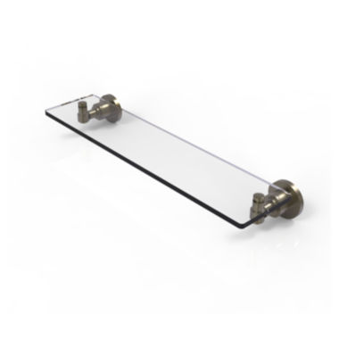 Allied Brass Washing Square Collection 22 IN GlassVanity Shelf With Beveled Edges