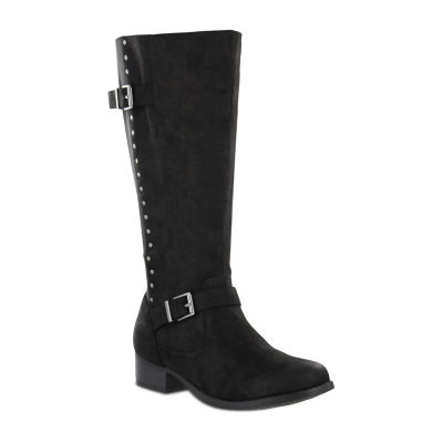 Mia Amore Luise Womens Block Heel Zip Riding Boots