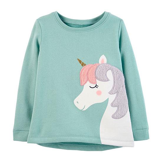 116446513 Carter s Short Sleeve Round Neck T-Shirt-Baby Girls - JCPenney