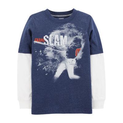 Carter's Ls Doubler Tee Grandslam Long Sleeve Round Neck T-Shirt Boys
