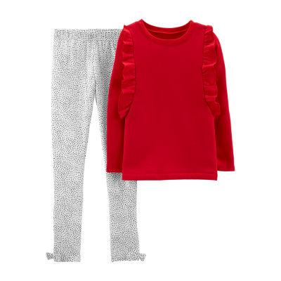 Carter's Long Sleeve Top & Pant 2pc. Set - Preschool Gils 2-pc. Pant Set Girls