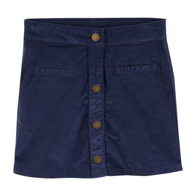 Carter's Carter'S Snap-Up Corduroy Skirt - Preschool Girls A-Line Skirt Girls