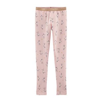 Carter's Jersey Pink Ballerina Leggings - Preschool Girls