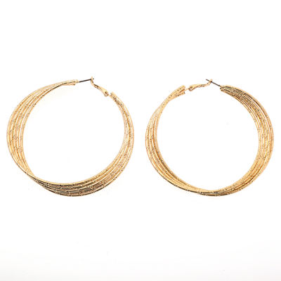 Bijoux Bar 3 Inch Hoop Earrings