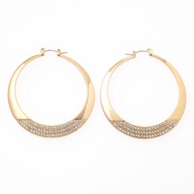 Bijoux Bar 2 Inch Hoop Earrings