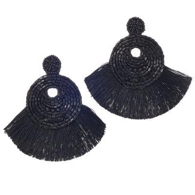 Bijoux Bar Black Drop Earrings