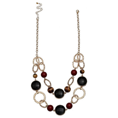 Mixit Double Link Chain Womens Beaded Necklace