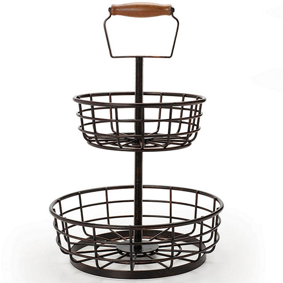 Gourmet Basics By Mikasa Thread 2 Tier Basket