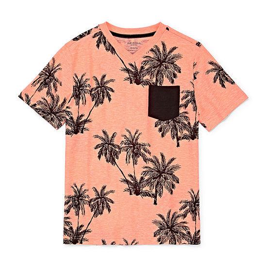 54e2f401ad8 Arizona Short Sleeve Crew Neck T Shirt Boys JCPenney