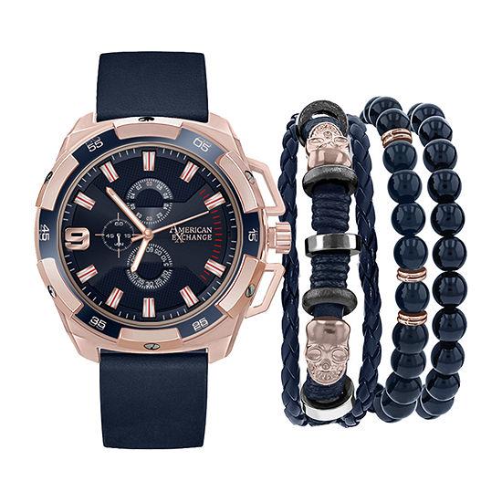 Mixit Mega Sets Mens Blue Watch Boxed Set-8031r-18-J05