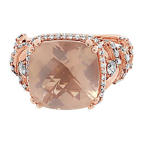 Le Vian Grand Sample Sale™ Ring featuring Lavender Quartz™ Chocolate Diamonds® Vanilla Diamonds® set in 14K Strawberry Gold®