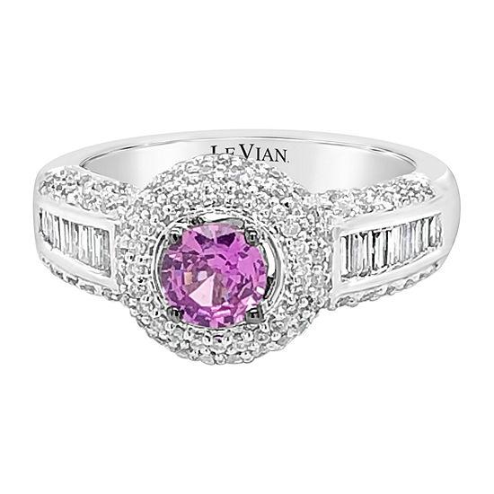 Le Vian Grand Sample Sale™ Ring featuring Bubble Gum Pink Sapphire™ Vanilla Diamonds® set in 14K Vanilla Gold®