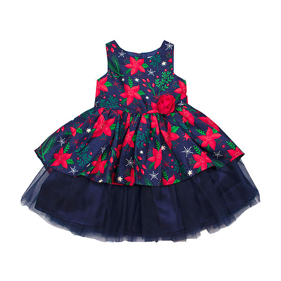 Nanette Baby Girls Sleeveless Fit & Flare Dress - Toddler