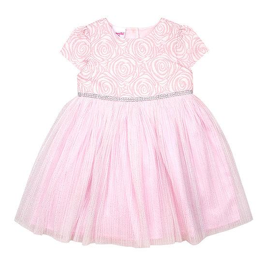 Nannette Baby Girls Short Sleeve Party Dress - Toddler
