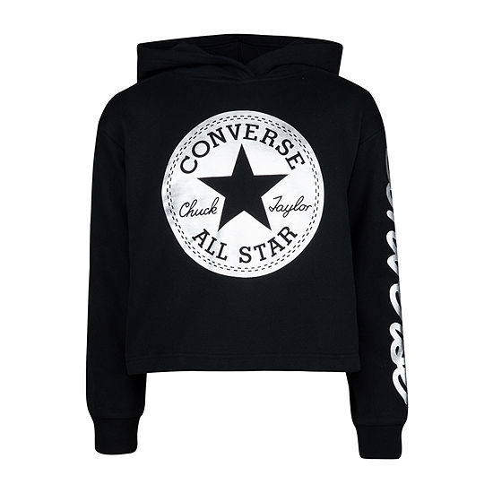 Converse Girls Cuffed Sleeve Hoodie-Big Kid