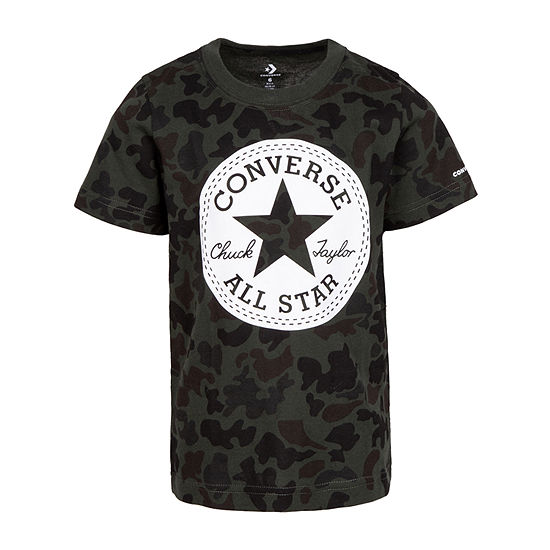 Converse Boys Crew Neck Short Sleeve Graphic T-Shirt - Big Kid