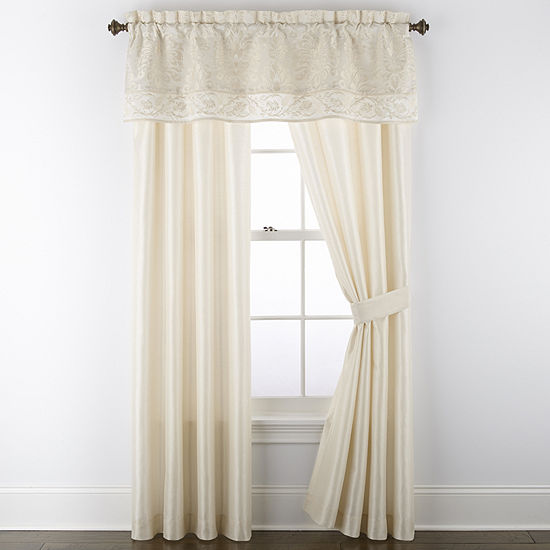 Stratton Light-Filtering Rod-Pocket Set of 2 Curtain Panel