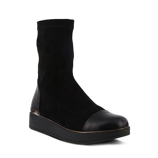 Azura Womens Cascasia Booties Flat Heel