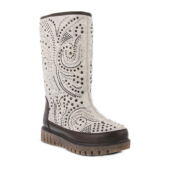 Azura Womens Agaxis Water Resistant Winter Boots Flat Heel