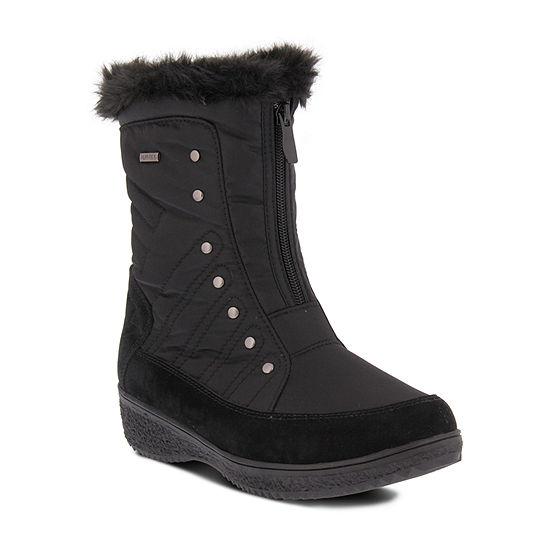 Flexus Womens Imamu Water Resistant Snow Boots Flat Heel