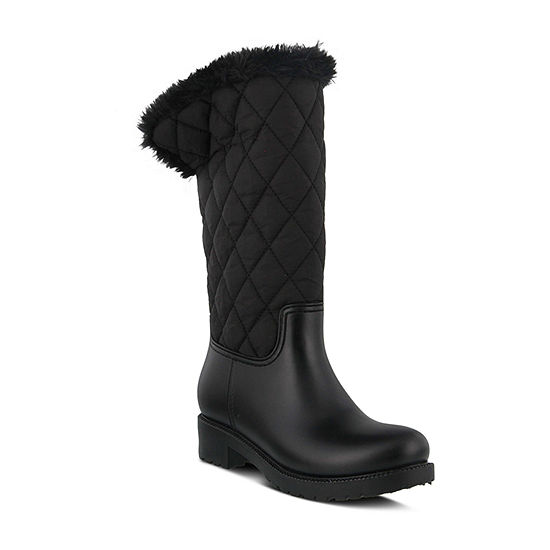 Spring Step Womens Paraasto Block Heel Rain Boots