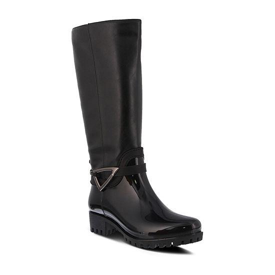 Spring Step Womens Nendia Block Heel Rain Boots